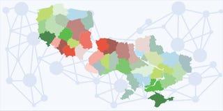 De gebieden van Polen de Oekraïne vector illustratie