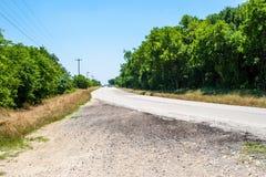 De gebogen landelijke weg van Texas Royalty-vrije Stock Foto's