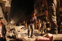 De gebombardeerde Bouw Royalty-vrije Stock Fotografie