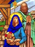 De Geboorte van Christus stock afbeelding
