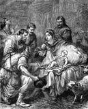 De Geboorte van Christus stock illustratie