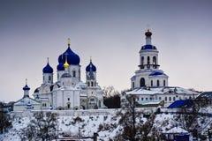 De Geboorte van Christus van het Bogolyubskyklooster van Virgin stock foto