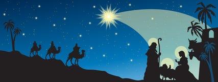 De geboorte van Christus van Jesus Stock Afbeeldingen