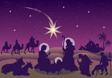 De geboorte van Christus van Jesus Stock Foto's