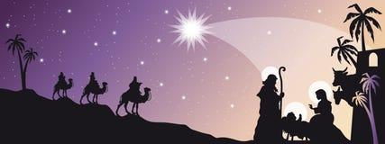 De geboorte van Christus van Jesus Royalty-vrije Stock Foto