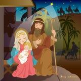 De geboorte van Christus van Jesus Royalty-vrije Stock Fotografie