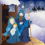 De geboorte van Christus van Jesus Stock Afbeelding