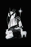 De geboorte van Christus van Kerstmis stock illustratie