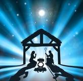 De geboorte van Christus van Kerstmis vector illustratie