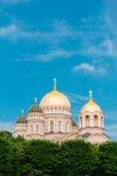 De Geboorte van Christus van Riga van de Kathedraal van Christus - Beroemde Kerk op Blauwe Zonnig royalty-vrije stock afbeelding