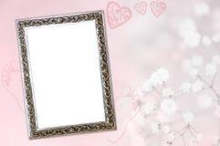 De geboortekaart van het babymeisje Stock Foto's