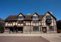 De Geboorteplaats Stratford van Shakespeare op Avon Stock Afbeelding