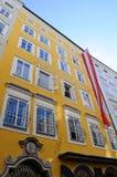 De Geboorteplaats van Mozart - Salzburg, Oostenrijk Royalty-vrije Stock Fotografie