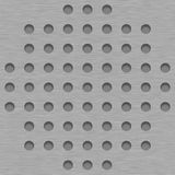 De geborstelde Achtergrond van de Metaaltegel met Gray Grill Holes Royalty-vrije Stock Fotografie