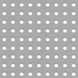 De geborstelde Achtergrond van de Metaaltegel met Witte Grillgaten Stock Foto's