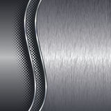 De geborstelde achtergrond van het aluminiummetaal met grens Royalty-vrije Stock Afbeelding