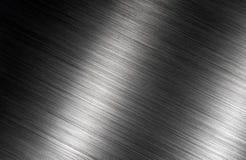 De geborstelde achtergrond van metaal donkere schaduwen Stock Foto's