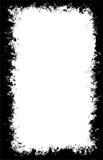 De geborstelde grens F van de verspreiding verf vector illustratie