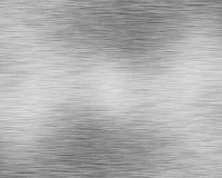 De geborstelde plaat van het alluminiummetaal Royalty-vrije Stock Afbeeldingen