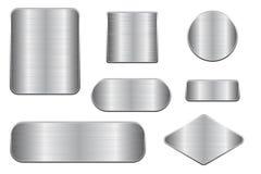 De geborstelde Platen van het Metaal Reeks geometrische vormplaques stock illustratie