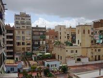 De Gebouwen/de Projecten van Barcelona stock afbeeldingen