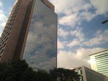 De gebouwen en de hemel van Sãopaulo Stock Foto's