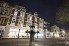de gebouwen herten binnen Duitsland in de avond Royalty-vrije Stock Foto