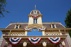 De gebouwen van Amerika in disneyland Stock Foto's