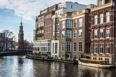 De Gebouwen van Amsterdam stock fotografie