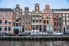 De Gebouwen van Amsterdam stock afbeelding