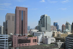 De Gebouwen van Bangkok Royalty-vrije Stock Afbeeldingen