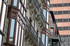 De gebouwen van Bilbao Royalty-vrije Stock Afbeeldingen