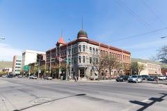 De Gebouwen van de binnenstad in Missoula, Montana royalty-vrije stock foto's