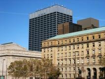 De gebouwen van de binnenstad royalty-vrije stock afbeelding