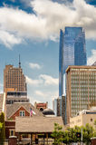 De Gebouwen van de binnenstad in de Stad van Oklahoma Stock Fotografie
