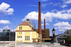 De gebouwen van de brouwerij Royalty-vrije Stock Foto's