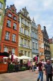 De gebouwen van de Nederlands-stijl in Gdansk Royalty-vrije Stock Foto's