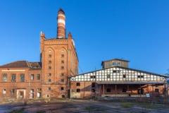 De gebouwen van de oude fabriek Stock Afbeelding