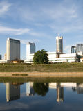 De gebouwen van de stad stock foto