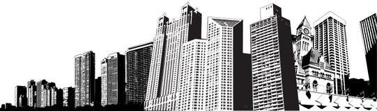 De gebouwen van de stad vector illustratie