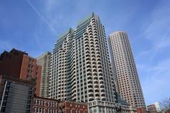 De gebouwen van de stad skyskraper Stock Foto