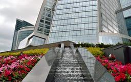 De gebouwen van de Stad van Moskou. Stock Fotografie