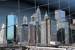 De Gebouwen van de Stad van New York Stock Fotografie