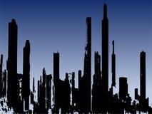 De gebouwen van Grunge stlye vector illustratie