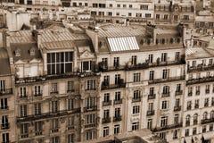 De gebouwen van Haussman in Parijs Stock Afbeelding