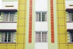 De gebouwen van het art deco Stock Afbeelding
