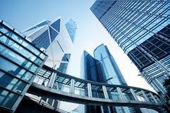 De Gebouwen van het bureau in Hongkong Stock Afbeeldingen