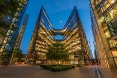 De gebouwen van het bureau Londen Stock Foto's
