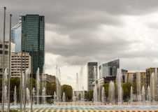 De gebouwen van het bureau in Parijs Stock Foto's