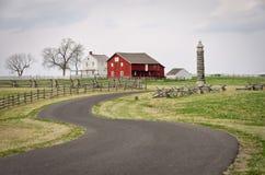 De Gebouwen van het Gettysburglandbouwbedrijf Royalty-vrije Stock Afbeeldingen